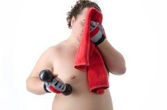 episodios Hombre gordo Desnudo y vestido Foto de archivo libre de regalías