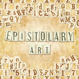 Epistolary art Royalty Free Stock Image