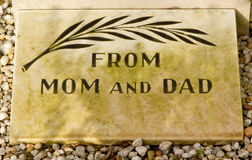 An epitaph on an old grave Stock Photos