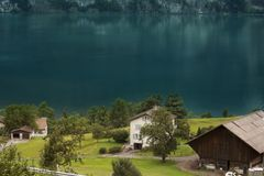 Epitome of Tranquility. Beauty of Lucerne!! Painted world Stock Image