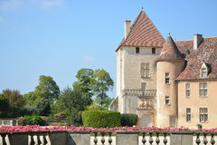 Epoisses slott/Chateau De Epoisses arkivfoton