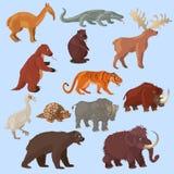 Epok Lodowcowych zwierzęta Ustawiający Zdjęcie Royalty Free