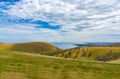 Epopeja krajobraz wzgórza i morze fotografia royalty free