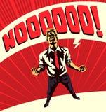 Epopeja Nie! Komiksu mężczyzna styl rozczarowywam krzyczeć żadny ilustracja wektor
