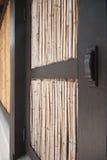 Epopeya de bambú Tailandia del diseño de la puerta Imágenes de archivo libres de regalías