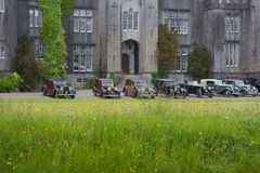 Epoque Cars. At Birr Demesne Castle in Ireland Stock Photo