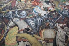 Epos av den mexicanska folkv?ggm?lningen royaltyfria foton