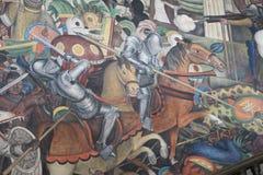 Epos av den mexicanska folkv?ggm?lningen arkivfoto