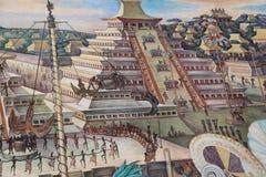 Epos av den mexicanska folkv?ggm?lningen royaltyfri fotografi