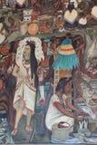 Epos av den mexicanska folkv?ggm?lningen royaltyfri foto