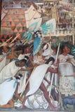 Epos av den mexicanska folkv?ggm?lningen royaltyfria bilder