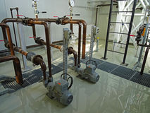 Epoxy floor and industrial installations Stock Photo