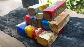 epoxy resin wood stock image
