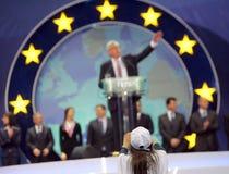EPP Juncker de la campaña electoral de europeo Foto de archivo