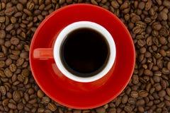 Epresso op bonen Royalty-vrije Stock Foto's