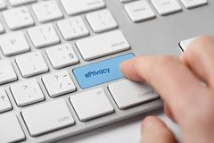 EPrivacy concept. EPrivacy regulation concept. Privacy in electronic communications stock photo