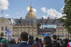 巴黎ePrix -惯例E种族 库存图片