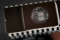 μικροϋπολογιστής τσιπ EPROM Στοκ εικόνα με δικαίωμα ελεύθερης χρήσης