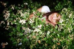 10 eps女孩例证春天向量 库存图片