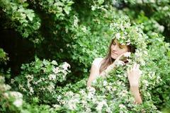 10 eps女孩例证春天向量 免版税库存照片