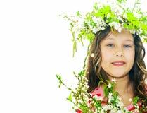 10 eps女孩例证春天向量 库存照片