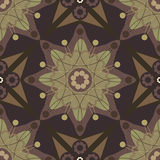 eps花纹花样俄国无缝的星形样式 库存照片