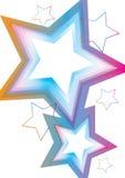 eps许多星形 免版税库存图片