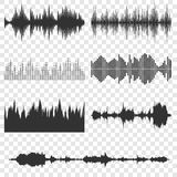 8 eps ανασκόπησης συμπεριλαμβανόμενα αρχείο καθορισμένα υγιή κύματα μουσικής Στοκ Εικόνες