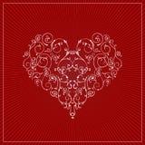 eps βαλεντίνος καρδιών Στοκ Εικόνες