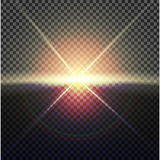 EPS10 Διανυσματική διαφανής ελαφριά επίδραση φλογών φακών φωτός του ήλιου ειδική Στοκ εικόνα με δικαίωμα ελεύθερης χρήσης