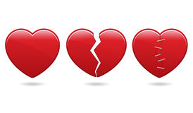 eps εικονίδια καρδιών Στοκ Εικόνες