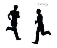EPS 10 διανυσματική απεικόνιση ενός ατόμου στο τρέξιμο θέτει στο άσπρο υπόβαθρο Στοκ εικόνες με δικαίωμα ελεύθερης χρήσης