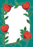 eps καρτών το πλαίσιο λουλουδιών αυξήθηκε Στοκ εικόνες με δικαίωμα ελεύθερης χρήσης