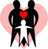 eps οικογενειακή αγάπη Στοκ φωτογραφία με δικαίωμα ελεύθερης χρήσης