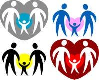 eps οικογενειακό λογότυπ& ελεύθερη απεικόνιση δικαιώματος