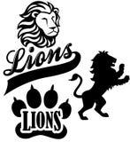 eps ομάδα μασκότ λιονταριών διανυσματική απεικόνιση