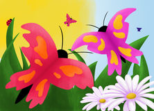 eps πεταλούδων 10 ανασκόπησης διάνυσμα στοκ εικόνες