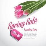 EPS 10 προτύπων υποβάθρου διαφήμισης πώλησης άνοιξη διάνυσμα Στοκ Εικόνες