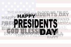 Eps 10 ΠΏΛΗΣΗΣ λέξεων Προέδρων Day Flag ΗΠΑ εικονίδιο μεγάλη απεικόνιση αποθεμάτων Στοκ Εικόνες