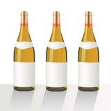 EPS10 τρία μπουκάλια κρασιού Στοκ Εικόνες