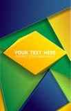 eps 10 τριγώνων υποβάθρου της Βραζιλίας διάνυσμα Στοκ εικόνες με δικαίωμα ελεύθερης χρήσης