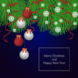 eps Χριστουγέννων 8 ανασκόπησης συμπεριλαμβανόμενο αρχείο διάνυσμα Στοκ Φωτογραφία