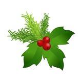 eps Χριστουγέννων 8 απεικόνιση ελαιόπρινου πέρα από το διανυσματικό λευκό Στοκ φωτογραφία με δικαίωμα ελεύθερης χρήσης
