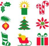 eps Χριστουγέννων εικονίδια Στοκ φωτογραφία με δικαίωμα ελεύθερης χρήσης