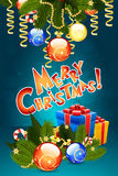 eps Χριστουγέννων 8 καρτών συμπεριλαμβανόμενο αρχείο πρότυπο Στοκ Φωτογραφίες