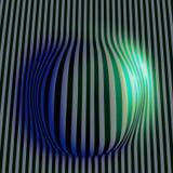 EPS10 Абстрактная волнистая покрашенная предпосылка нашивок Стоковая Фотография RF