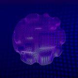 10 eps абстрактная предпосылка футуристическая вектор иллюстрации 3d Поверхность искривления искажение Ткань Поверхность космоса  Стоковое Изображение