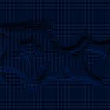 10 eps абстрактная предпосылка футуристическая вектор иллюстрации 3d Поверхность искривления искажение Ткань Поверхность космоса  Стоковые Фотографии RF
