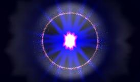 10 eps Взрыв в космосе Расширяя галактика также вектор иллюстрации притяжки corel Стоковое Изображение