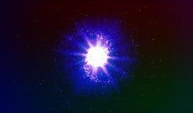 10 eps Взрыв в космосе Расширяя галактика также вектор иллюстрации притяжки corel Стоковое Изображение RF